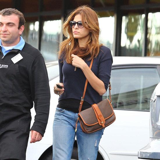 Eva Mendes Wearing Boyfriend Jeans