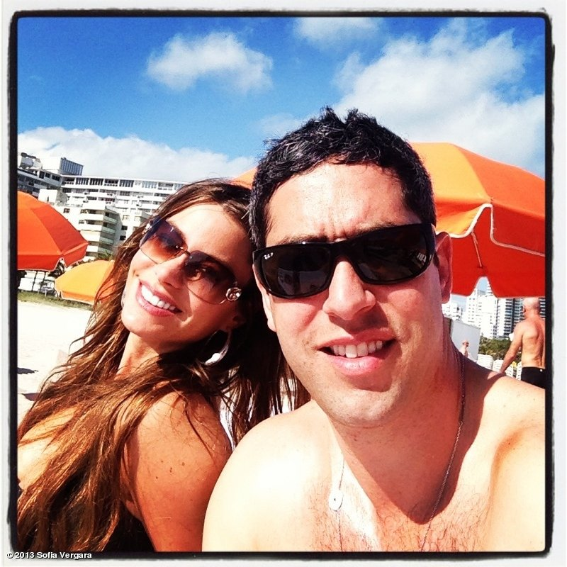 Sofia Vergara and Nick Loeb spent time on the beach in Miami. Source: Sofia Vergara on WhoSay