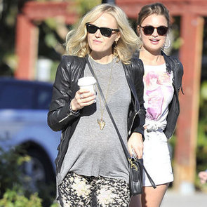Malin Akerman Wearing Floral Leggings