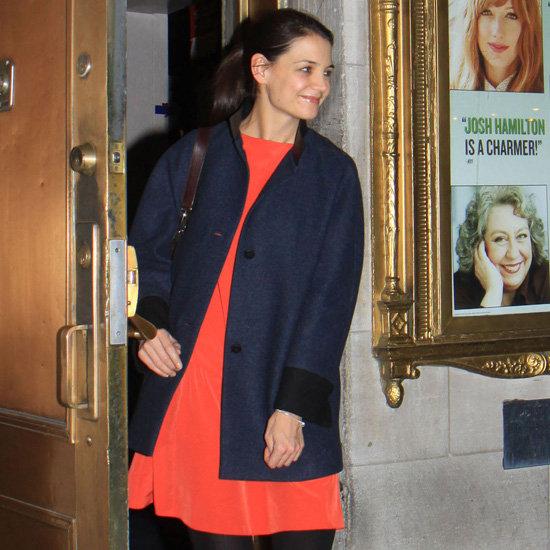 Katie Holmes Wearing Orange Dress