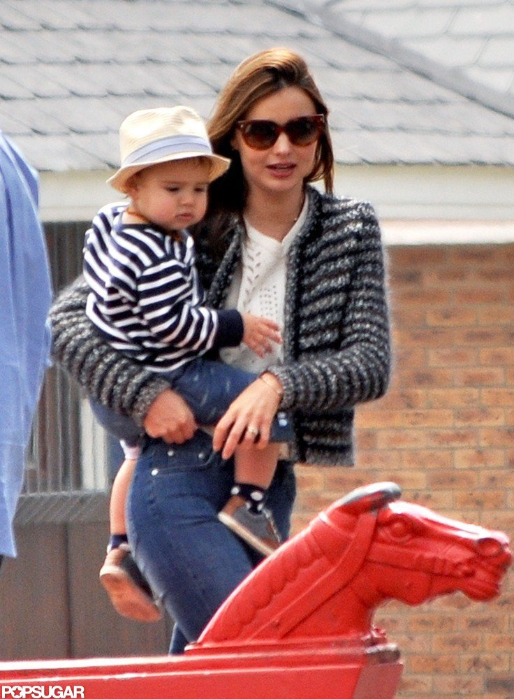 In September 2012, Miranda Kerr took Flynn to a playground in Cape Town, South Africa.