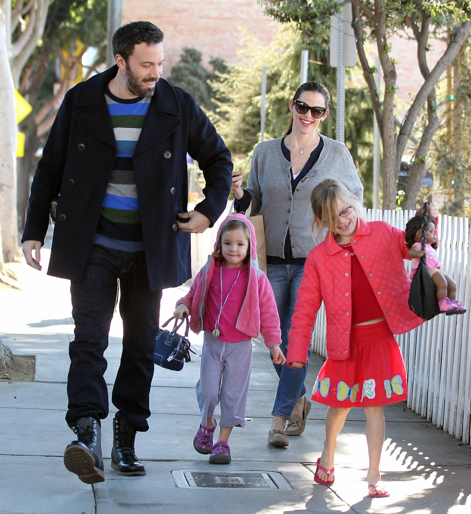 Ben Affleck and Jennifer Garner headed to an ice rink with Violet and Seraphina.