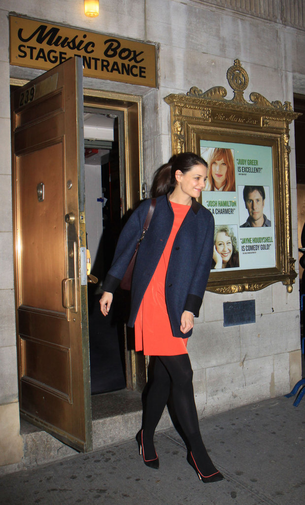 Katie Holmes finished up another performance.