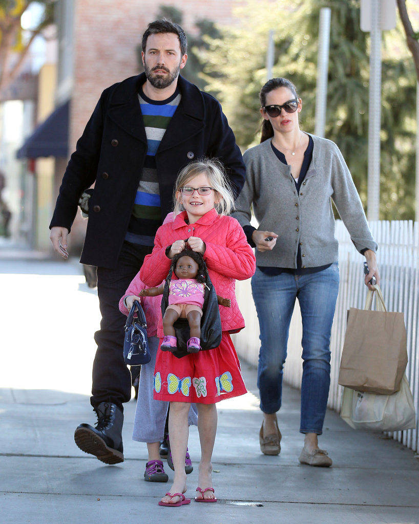 Ben Affleck and Jennifer Garner took their daughters to an LA ice skating rink.