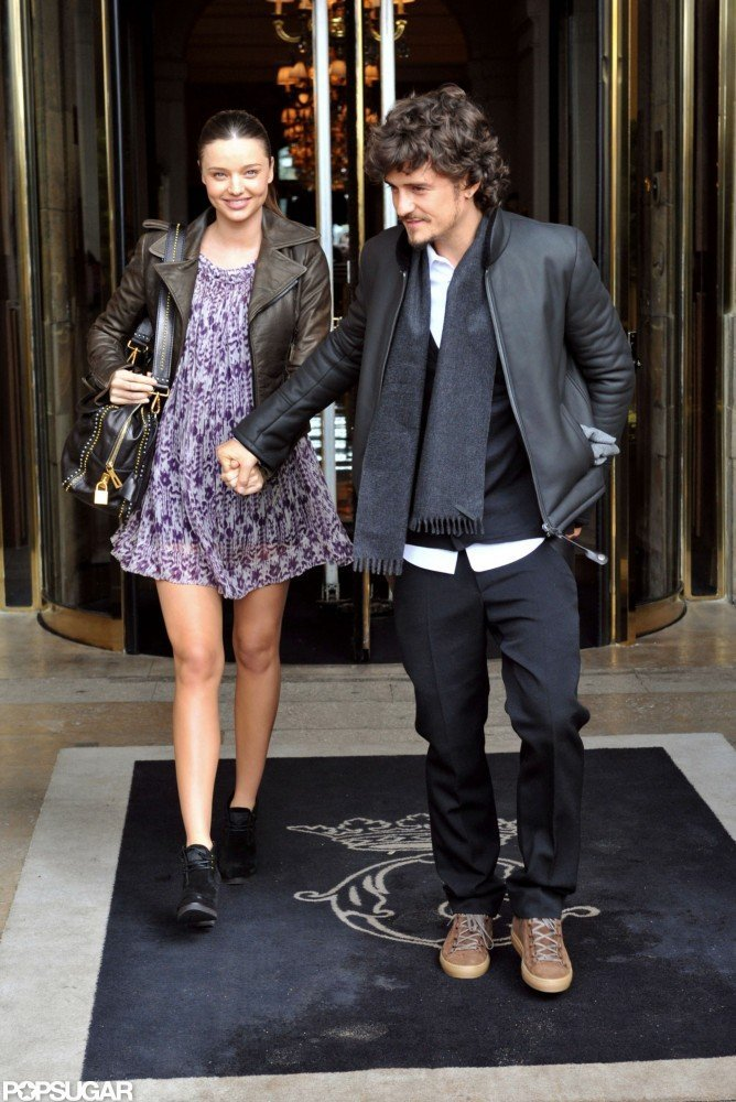 Orlando Bloom and pregnant Miranda Kerr went shopping in Paris during their September 2010 stay.