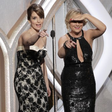 Tina Fey and Amy Poehler Golden Globes Celebrity Jokes