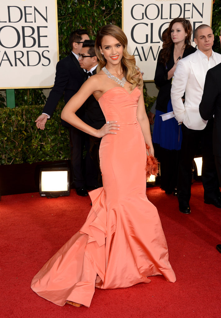 Honor and Haven surely loved Jessica Alba's showstopping trumpet gown by Oscar de la Renta.