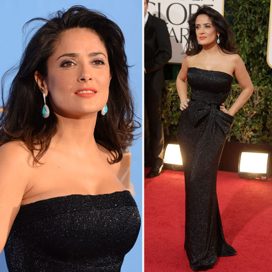 Salma Hayek | Golden Globes Red Carpet Fashion 2013