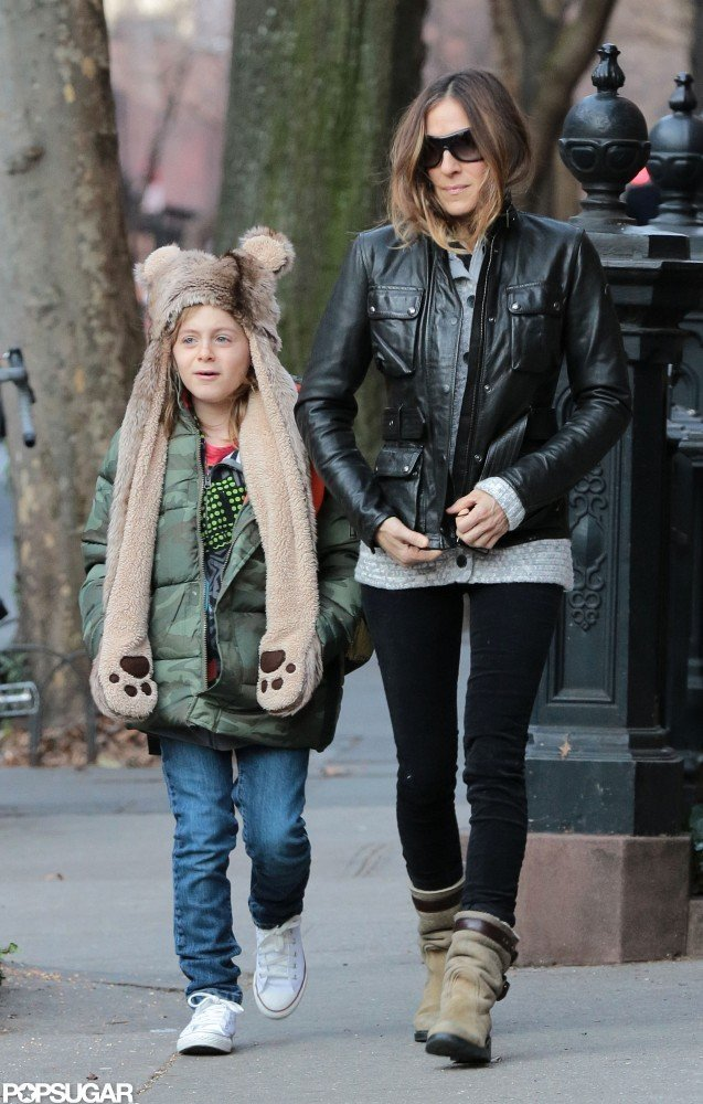 Sarah Jessica Parker walked her son, James Wilkie Broderick, to school in NYC.