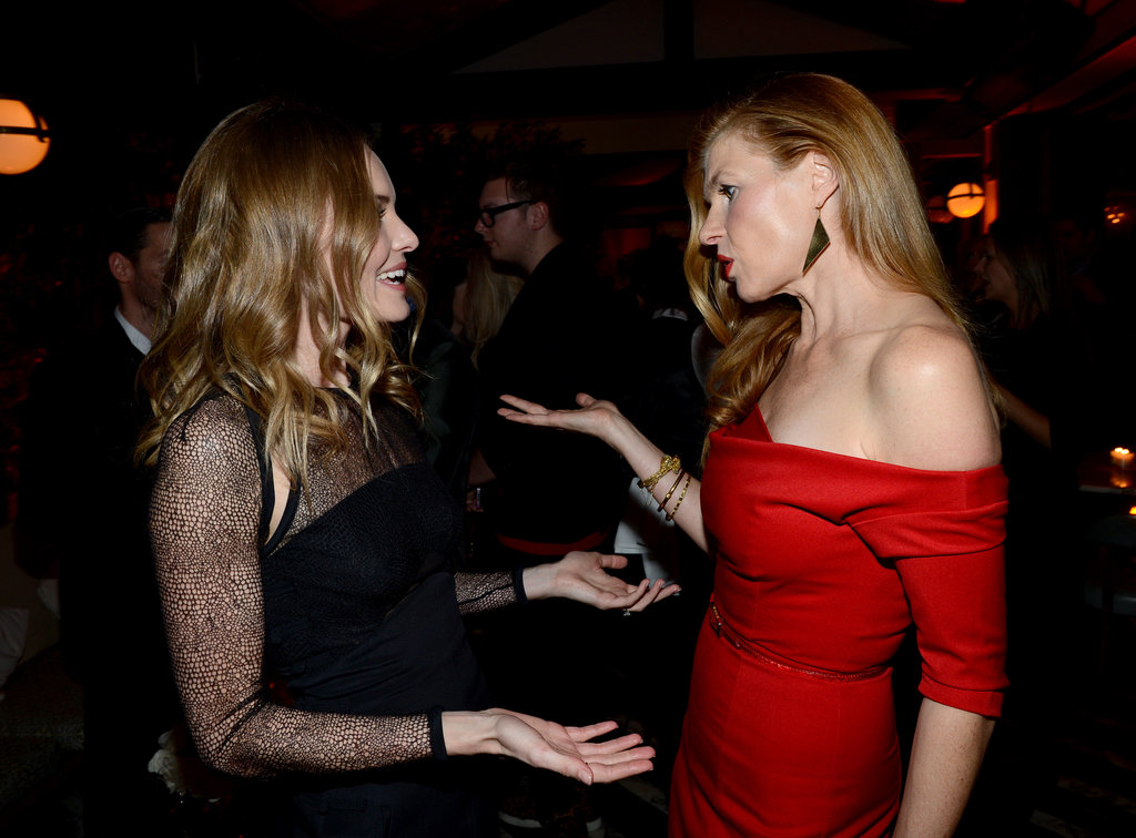 Kate Bosworth and Connie Britton chatted at the party.