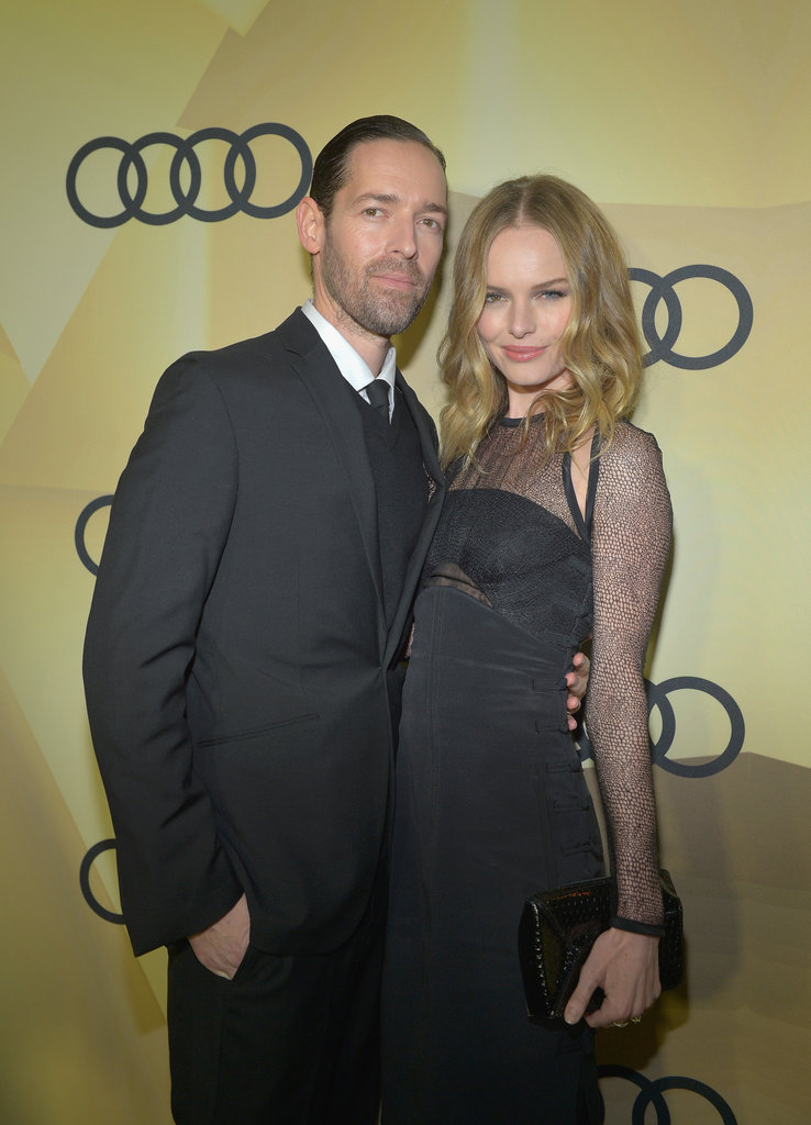 Michael Polish and Kate Bosworth stayed close in LA.