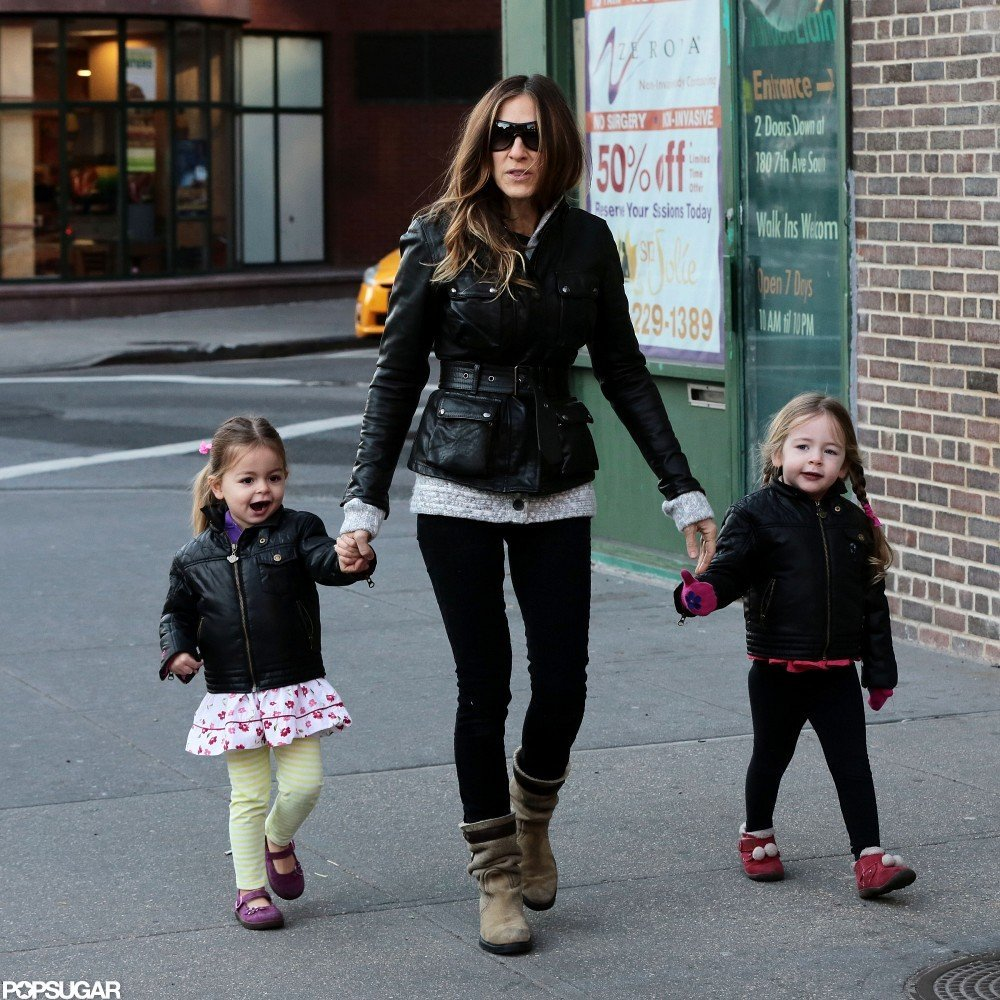 Sarah Jessica Parker walked her twins, Loretta and Tabitha Broderick, to school in NYC.