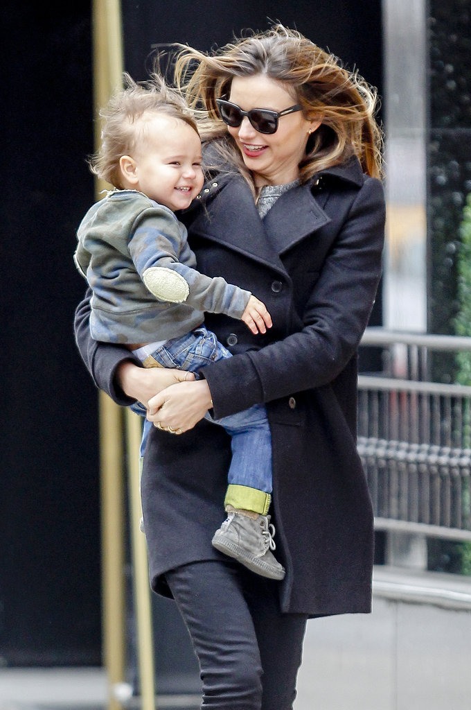 Flynn and Miranda embraced the NYC wind in Dec. 2012.