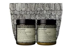 Picture and Details on the Marimekko and Aesop Sauna Duet