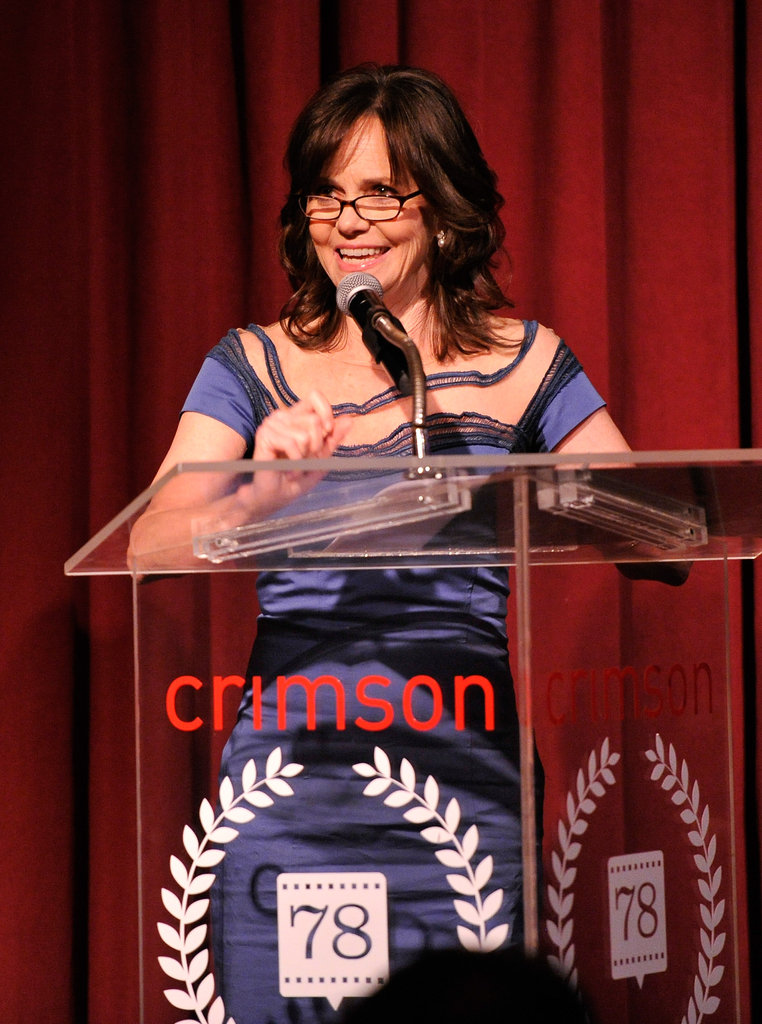 Sally Field spoke onstage.
