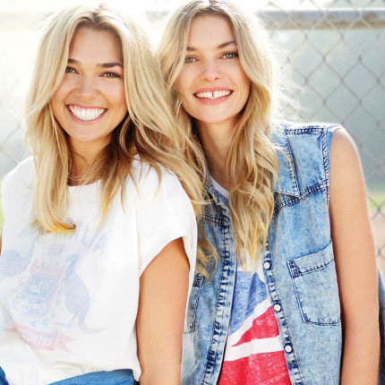See Supermodel Sisters Ashely & Jessica Hart  for Cotton On