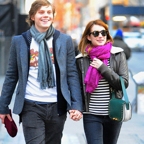 Emma Roberts Carrying Green Bag