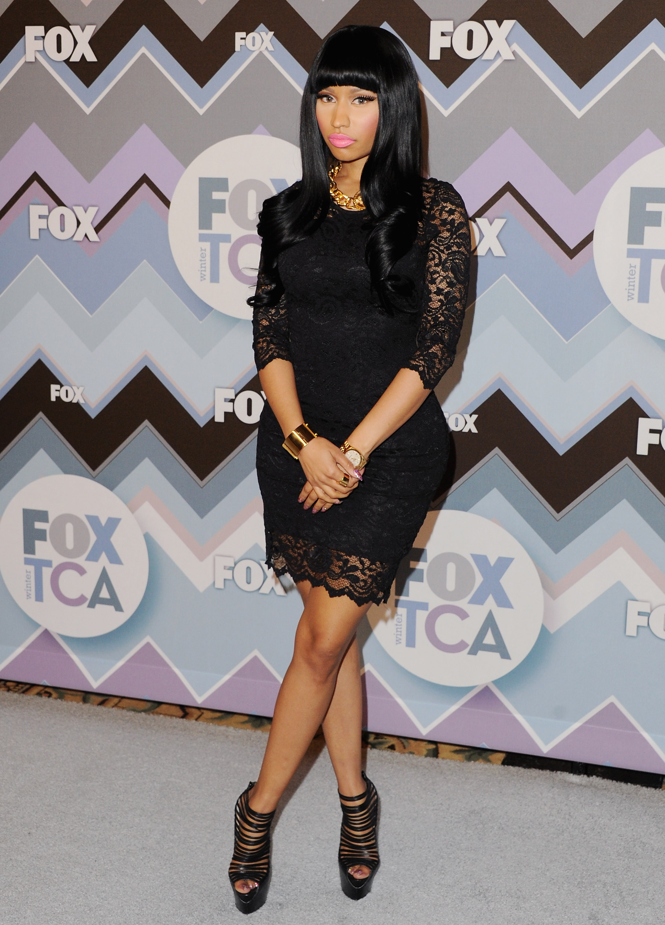 Nicki Minaj attended the FOX All-Star Party.