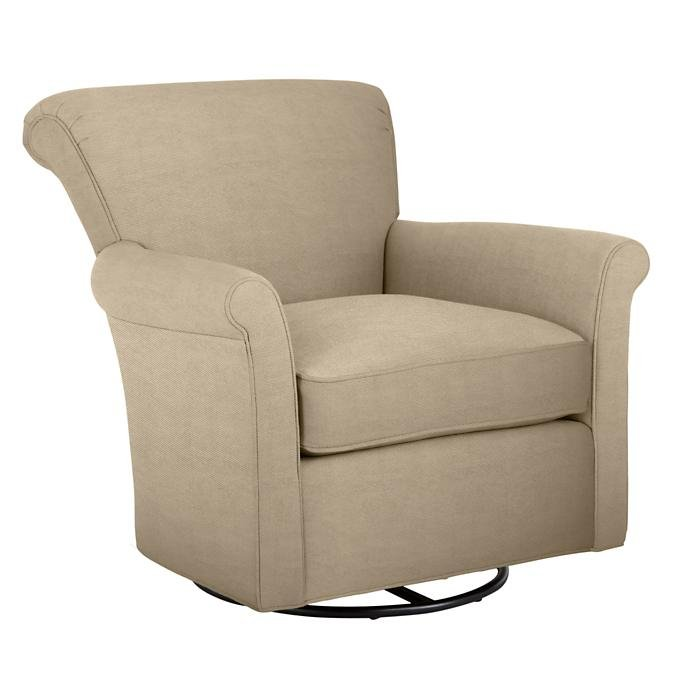 The Land of Nod Swivel Glider in Wheat