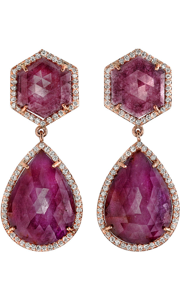 Irene Neuwirth's pink sapphire and diamond earrings ($18,960) are a pricey investment — and totally worth it in our financial dreams.