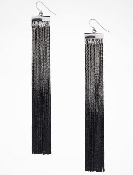 We love the '70s feel of these Express ombre fringe earrings ($27).