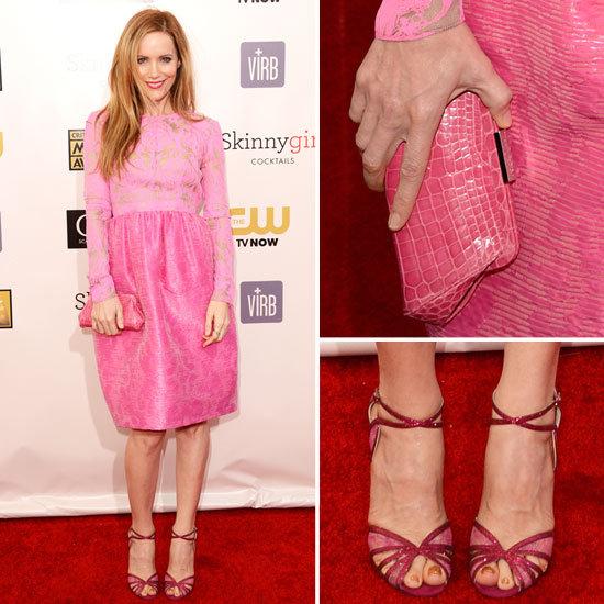 Pics of Leslie Man in Pink at 2013 Critics' Choice Awards