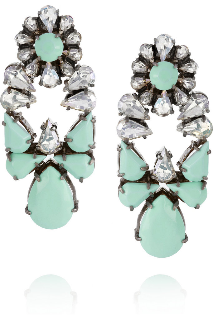 Shourouk's opulant Mia Swarovski Crystal Earrings ($350) can easily pair with sundresses, sweaters, and even tees.