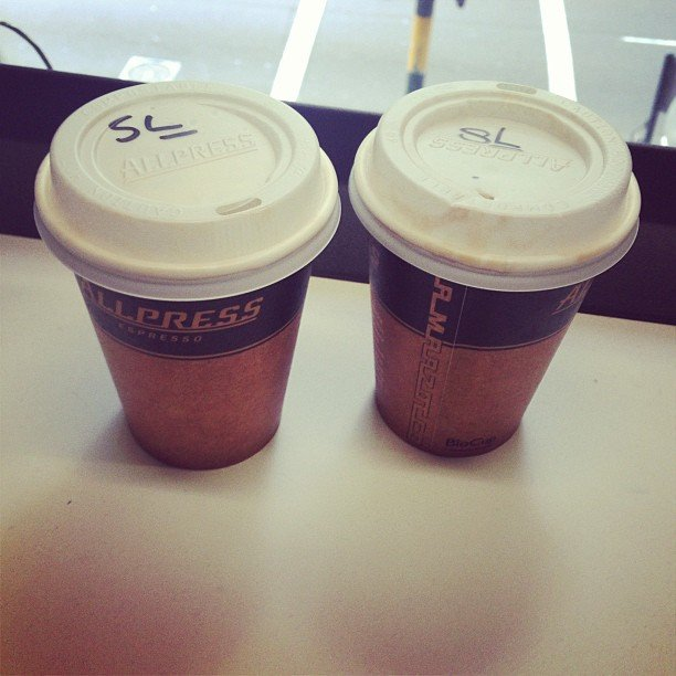 The first week back at work usually requires two coffees a day. Nothing's changed round here . . .
