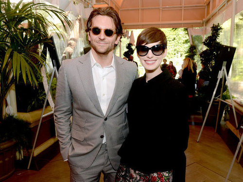 Anne Hathaway and Bradley Cooper posed in sunglasses at the AFI Awards.