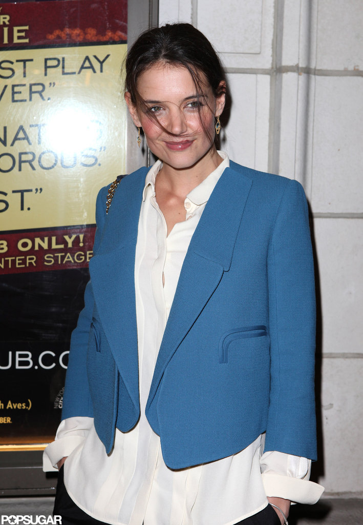Katie Holmes attended The Other Side on Broadaway.