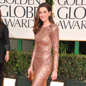 Anne Hathaway at the Golden Globes 2013 (Video)