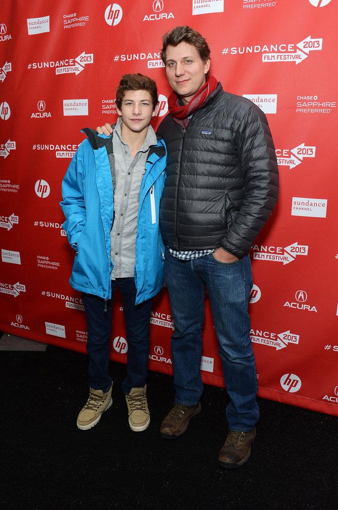 Jeff Nichols took a photo with Tye Sheridan.