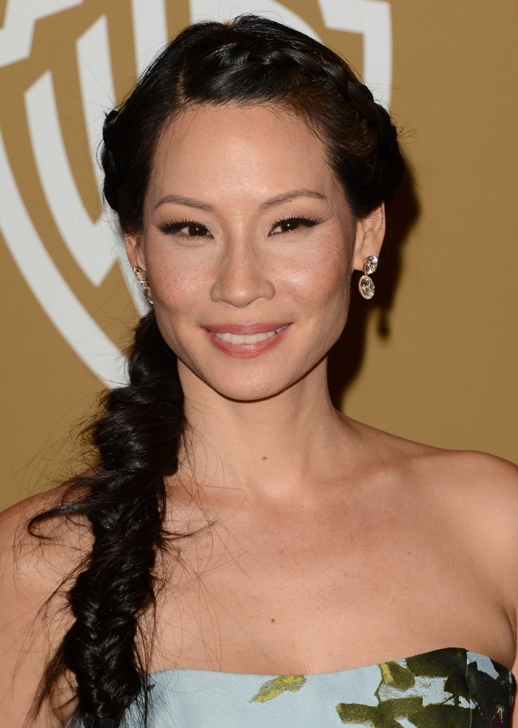 Lucy Liu wore a messy side braid.
