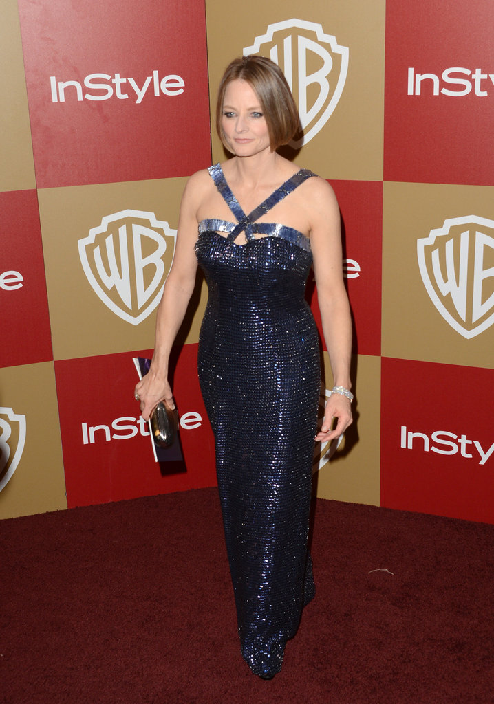 Jodie Foster arrived to the party.