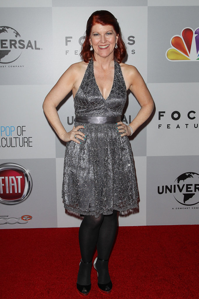 Katie Flannery donned a silver dress.