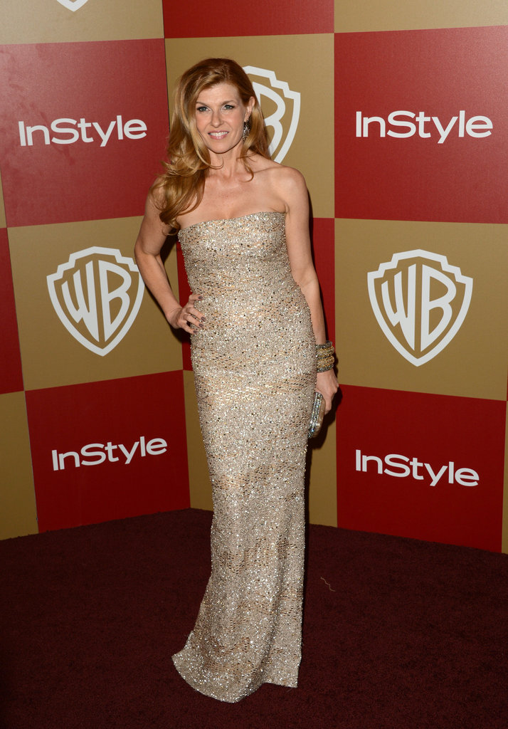 Nominee Connie Britton stopped for photos.