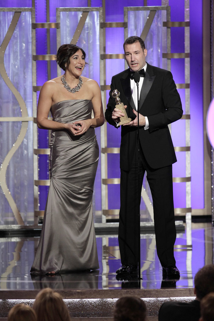 Mark Andrews and Katherine Sarafian accepted the award for best animated feature film for Brave.