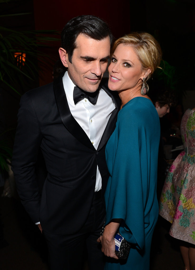 Costars Ty Burrell and Julie Bowen smiled for cameras at the Fox after party.