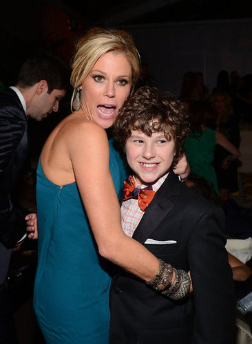 Costars Julie Bowen and Nolan Gould got silly at a Golden Globes after party.