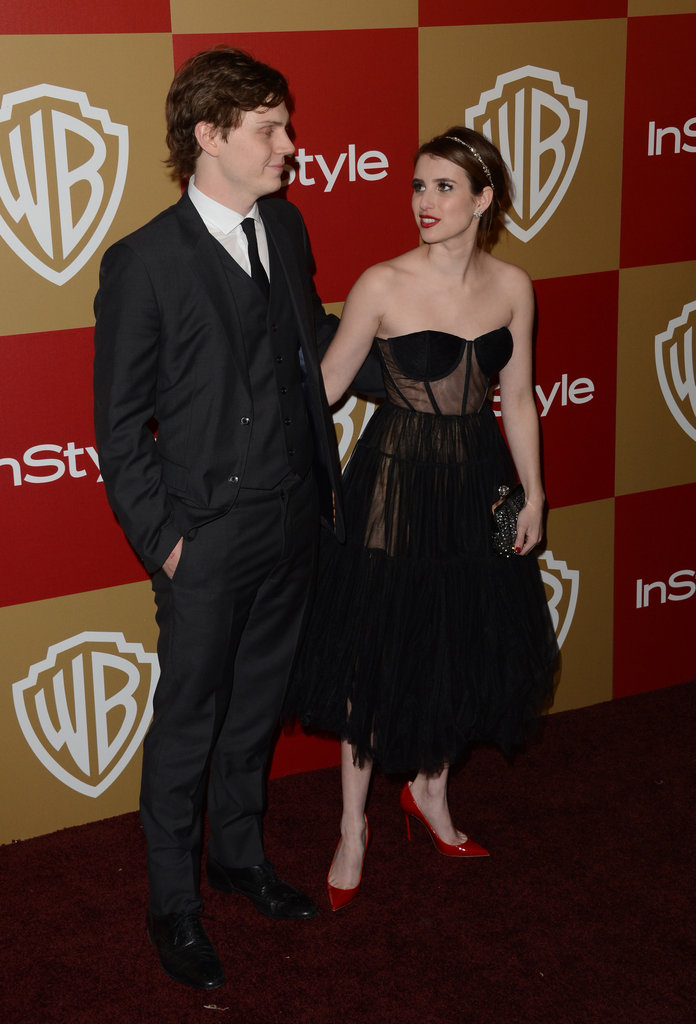 Evan Peters and Emma Roberts attended the party together.