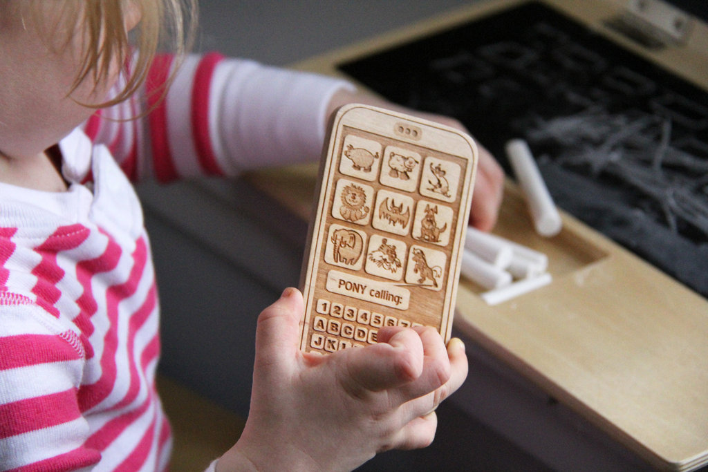 Wooden Cell Phone