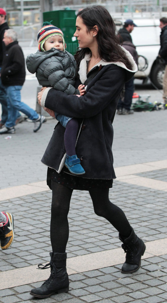Jennifer Connelly walked with Agnes after filming Winter's Tale.