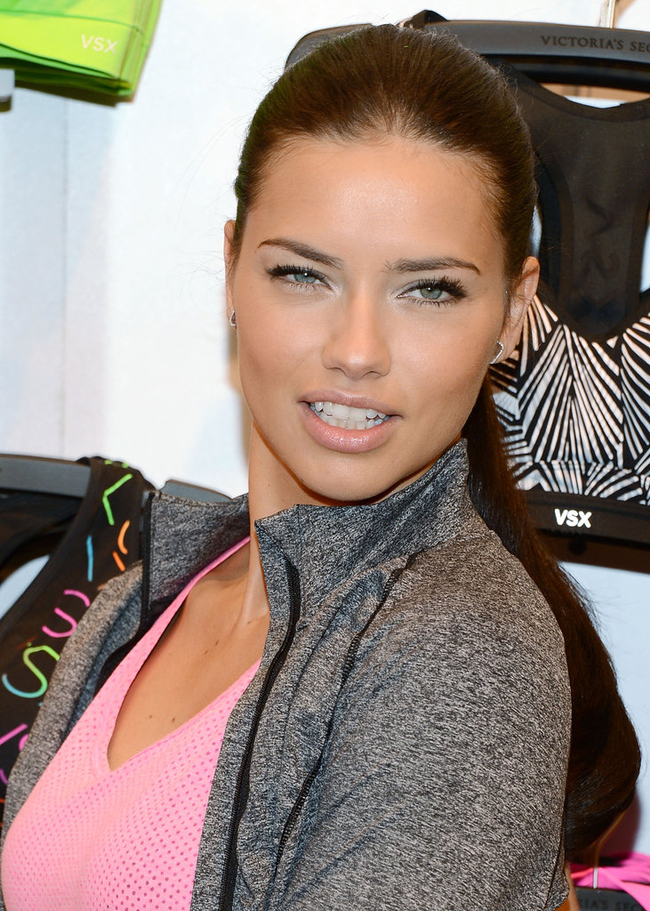 Adriana Lima struck a pose at Victoria's Secret.