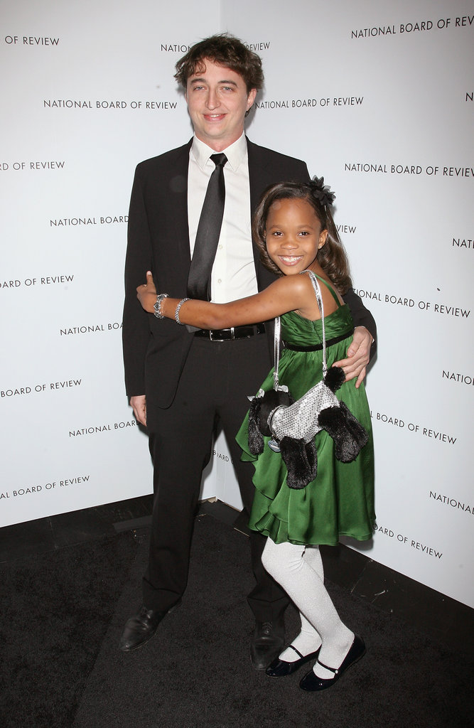 Quvenzhané Wallis posed with her Beasts of the Southern Wild director, Benh Zeitlin, at the National Board of Review Awards Gala.
