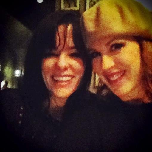 Parker Posey and Molly Ringwald spent a night out together. Source: Twitter user MollyRingwald