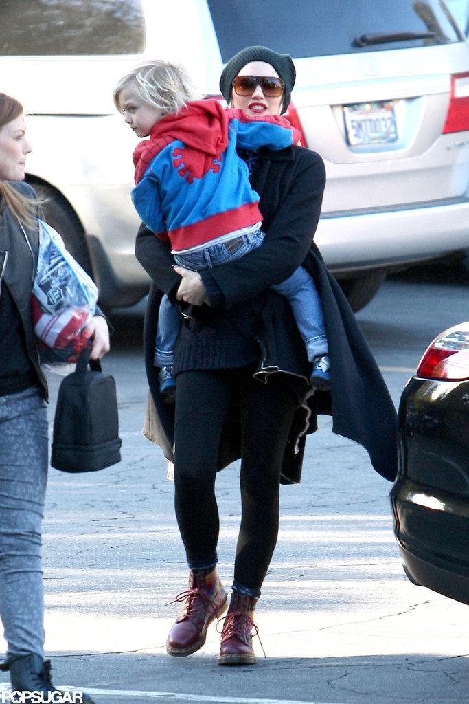 Gwen Stefani took Zuma Rossdale to school.