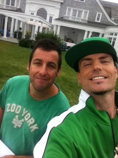 Adam Sandler and Vanilla Ice wore green together. Source: Twitter user vanillaice
