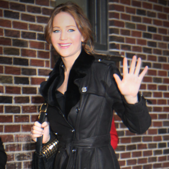 Jennifer Lawrence Goes Back to Black After Her Weekend in Red