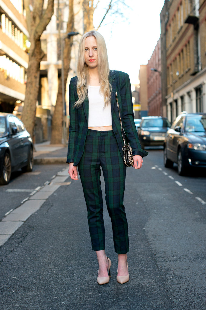 A plaid suit is way more playful than your average blazer and trousers.