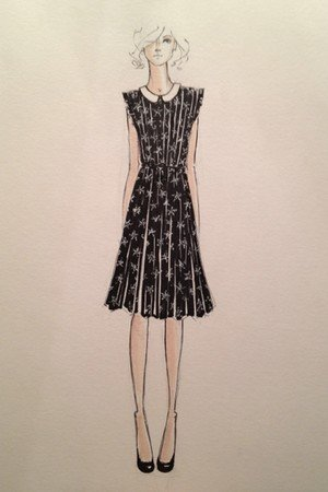 A sketch from the Kate Young For Target lineup.